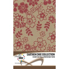 10 Sheet Hanging Pack of A4 Red Daisy Kraft Paper 130gsm
