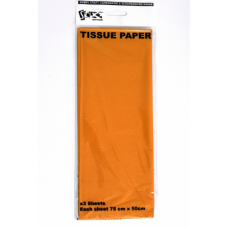 Gold Tissue Paper - 75cm X 50cm - 3 Sheets