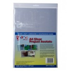 Clear Project Acetate Sheets - 100 Micron thick - 210mm x 297mm (A4)