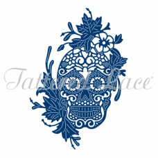Tattered Lace Die Floral Skull