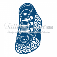 Tattered Lace Die Baby Boy Booties