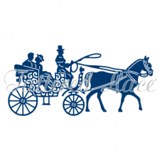 Tettered Lace Die Horse and Carriage