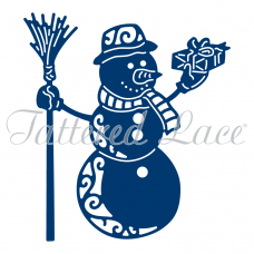 Tattered Lace Die Festive Snowman