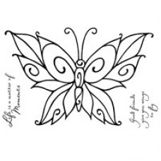 Woodware Clear Singles - Curly Butterfly